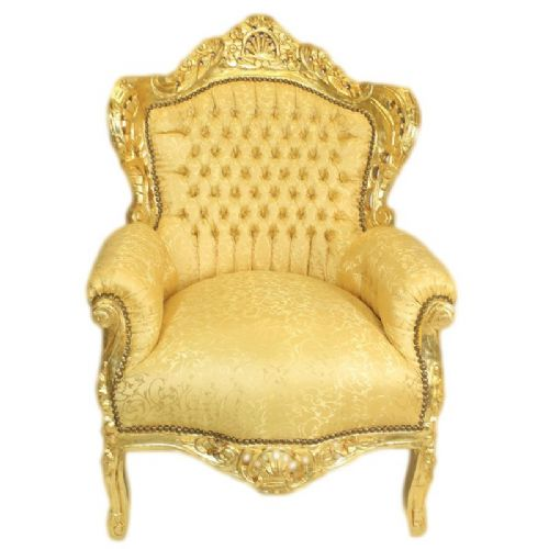 ARMCHAIR - BAROQUE STYLE ARMCHAIR GOLD # F30MB140